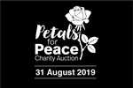 Petals for Peace Charity Auction logo.