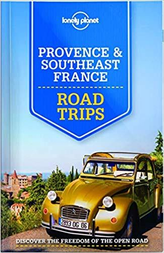 Book cover of old yellow Citroen in Southeast France.