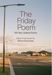 Book cover of Steve Braunias The Friday Poem.